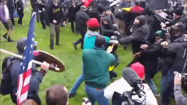 Watch Berkley Alt Right vs Antifa HIGHQUALITY GIF on Gfycat. Discover more related GIFs on Gfycat
