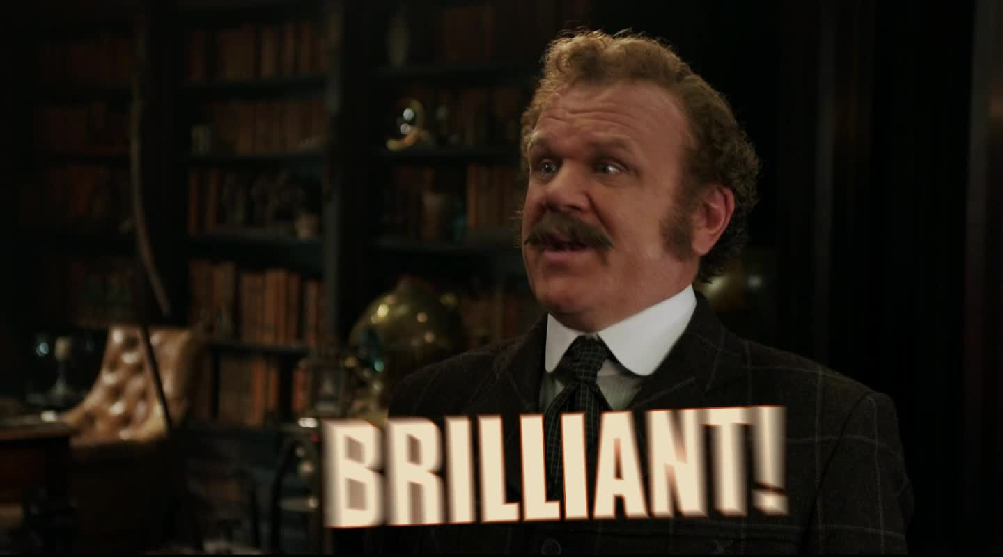 amazing, awesome, brilliant, fantastic, good, great, holmes & watson, holmes and watson, john c reilly, john watson, perfect, sherlock holmes, yes, Brilliant! GIFs