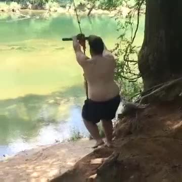 Watch and share Fat Man Conquers Rope Swing...maybe GIFs on Gfycat