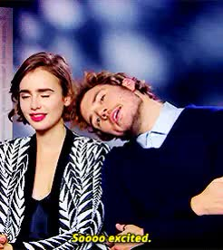Watch and share Lily Collins GIFs and Sam Claflin GIFs on Gfycat