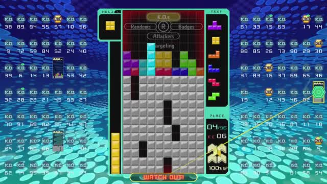 NL somehow wins this Tetris 99 match GIF by (@childishgiant