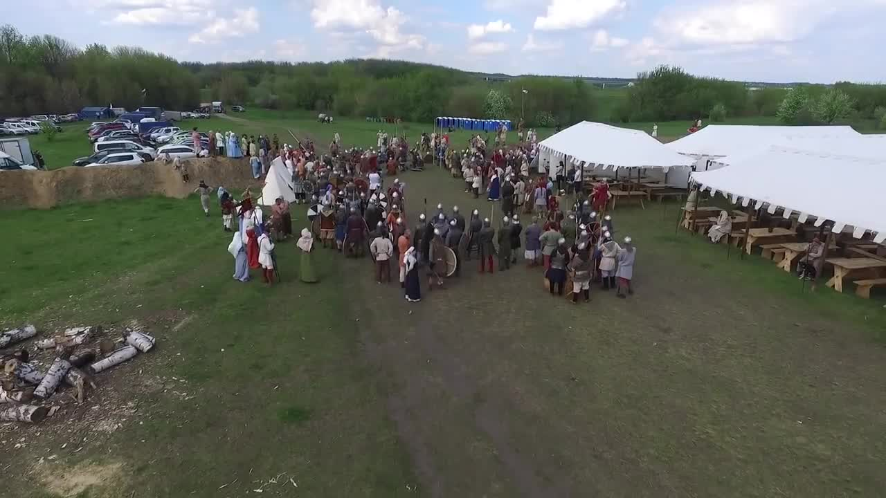 drone, drones, Flying a drone over a Russian Renaissance fair GIFs