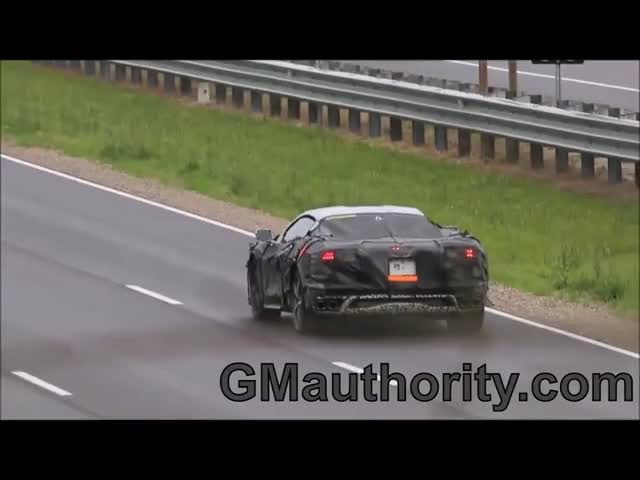 Mid Engine Corvette Track Testing Acceleration Launch Gif Find