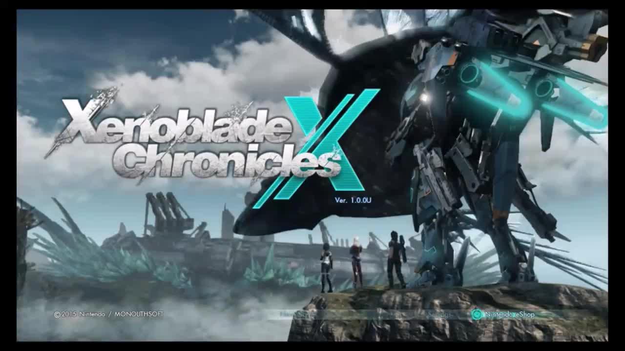 Xenoblade Chronicles X, title screen, Xenoblade Chronicles X GIFs