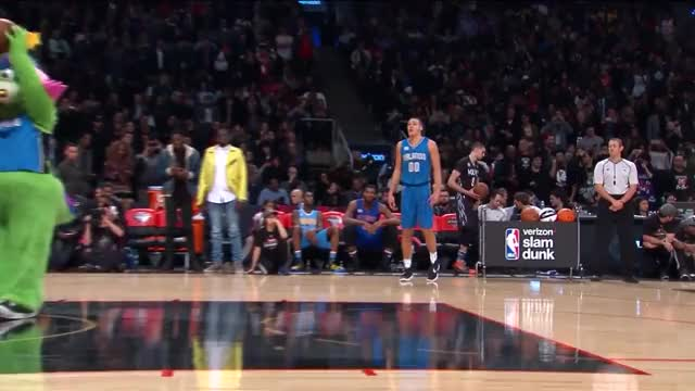 Watch and share Slam Dunk Contest: Aaron Gordon - Final Round 2 | February 13, 2016 | NBA All-Star 2016 GIFs on Gfycat