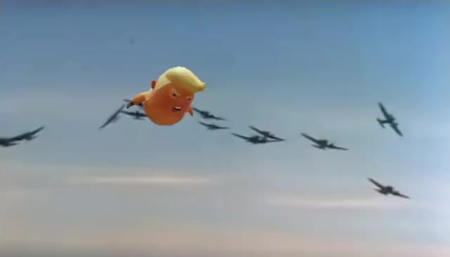 Watch Trump Baby Balloon in the Battle of Britain GIF on Gfycat. Discover more AmericaFirst, BabyTrump, Buildthewall, Buildwall, Crossinglegally, GodblessUSA, Illegalcrossingwillbeseparated, Theresa and Trump, TheresaandTrump, UK and USA, UKandUSA, Unitedkingdom, Unitedstates, Wesaluteoneflag GIFs on Gfycat