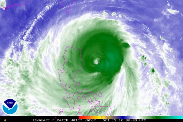 Watch and share Typhoon Haima Makes Landfall Over The Philippines GIFs by The Watchers on Gfycat