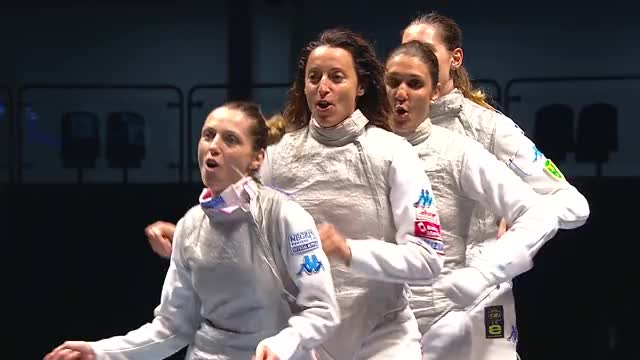 Watch World Team Fencing Championships 2016 Rio - Women's Foil  Gold match ITA vs RUS GIF by Stuff (@ajslim) on Gfycat. Discover more Fencing, italy GIFs on Gfycat