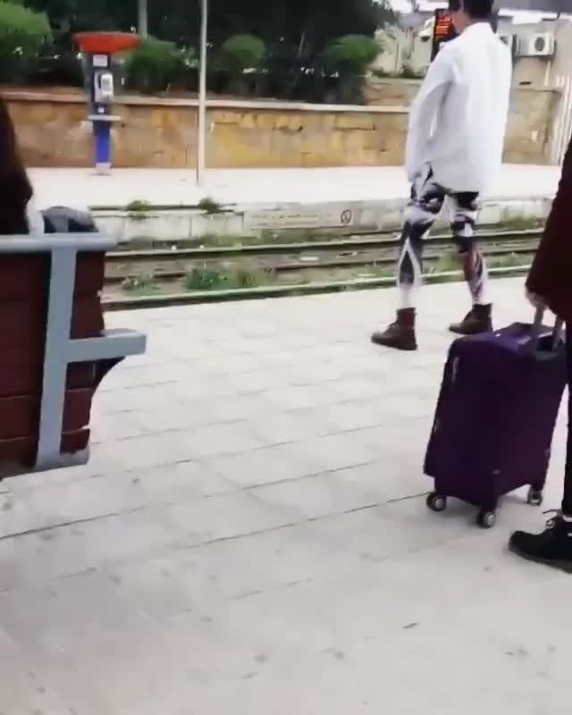 Watch and share Ezra Miller Casually Doing Tai Chi In A Train Station In Morocco | Repost From Twitter @ Meriemesoukrat GIFs on Gfycat