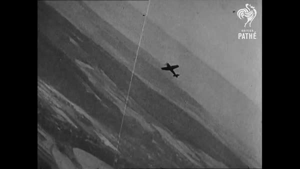 militarygfys, wwiiplanes, German Pilot bails out of Fw190 mid air. WWII (reddit) GIFs