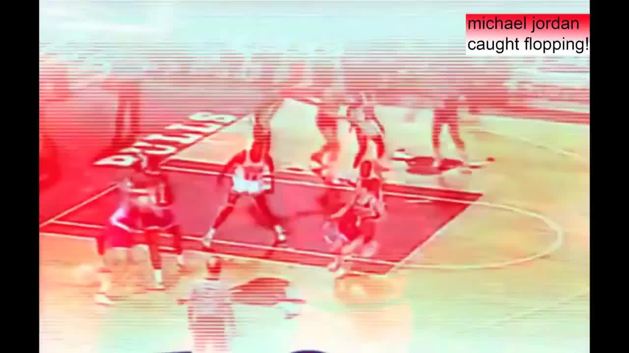 5c51d06a45ea Michael Jordan caught flopping! (he s a better actor than LeBron!) GIF