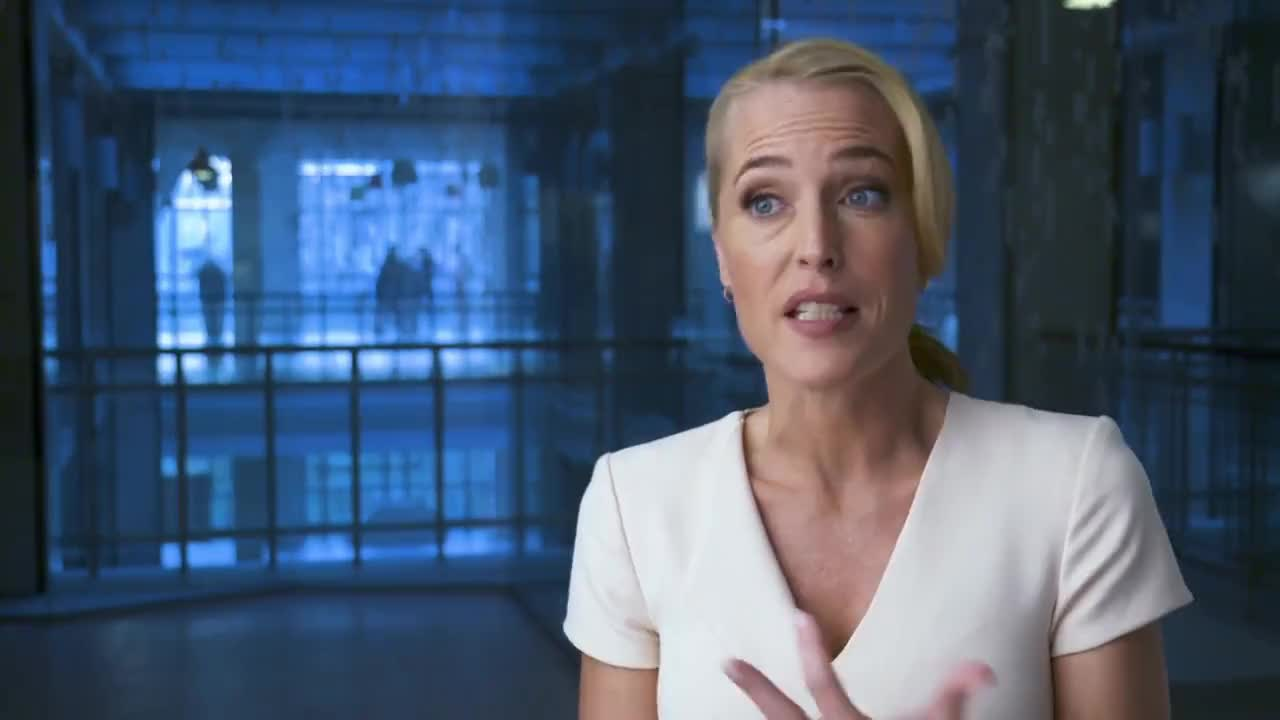 celebs, films, gillian anderson, movie, movies, the spy who dumped me, The Spy Who Dumped Me - Gillian Anderson Interview GIFs