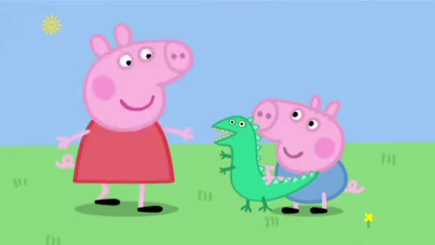 Watch and share Peppa Pig S04E19 Georges New Dinosaur GIFs on Gfycat