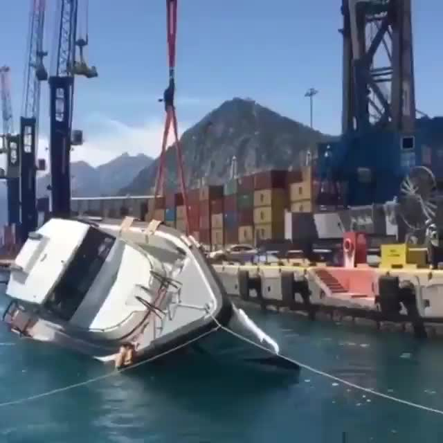 Watch A yacht's anti-capsizing test for rough seas GIF by tothetenthpower (@tothetenthpower) on Gfycat. Discover more related GIFs on Gfycat