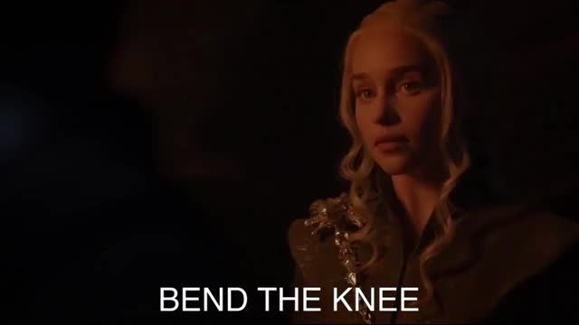 Watch this daenerys targaryen GIF by Media Paradise (@entfanatic) on Gfycat. Discover more bend the knee, daenerys targaryen, dragonglass, emilia clarke, game of thrones, gameofthrones, got, hbo, jon snow, kit harrington, we do not kneel GIFs on Gfycat