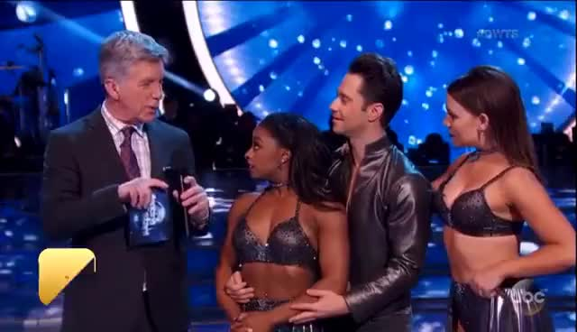Watch EXCLUSIVE: Simone Biles Addresses 'Gold Medal' Comment Val Chmerkovskiy & Normani Kordei Defend H… GIF on Gfycat. Discover more related GIFs on Gfycat