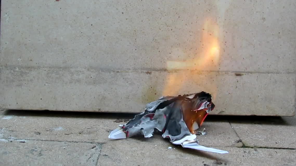 gifsthatendtoosoon, Burning Paper Dino In Reverse GIFs