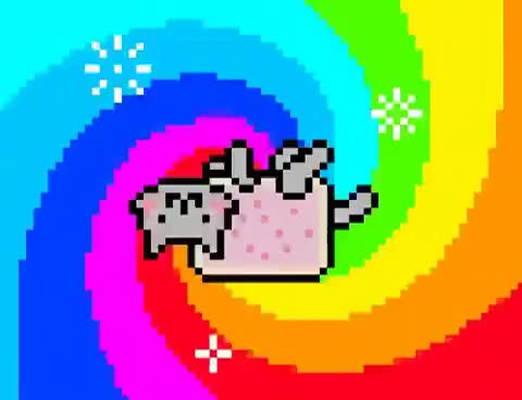 Watch this rainbow GIF on Gfycat. Discover more Cat, cat, rainbow, rainbow colors GIFs on Gfycat