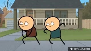 Watch and share Staring Contest - Cyanide & Happiness Shorts GIFs on Gfycat