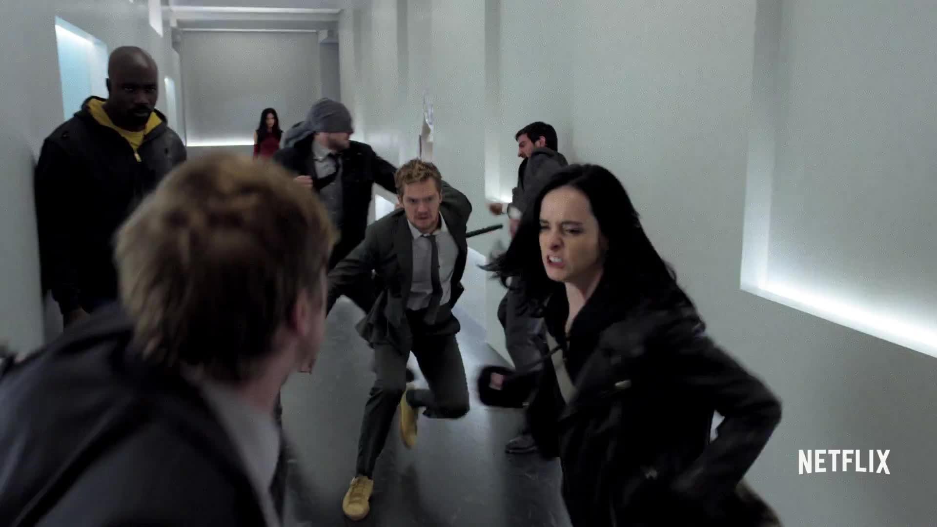 defenders, iron fist, jessica jones, luke cage, netflix, netflix original series, trailer, Marvel's The Defenders | Official Trailer | Netflix [HD] GIFs