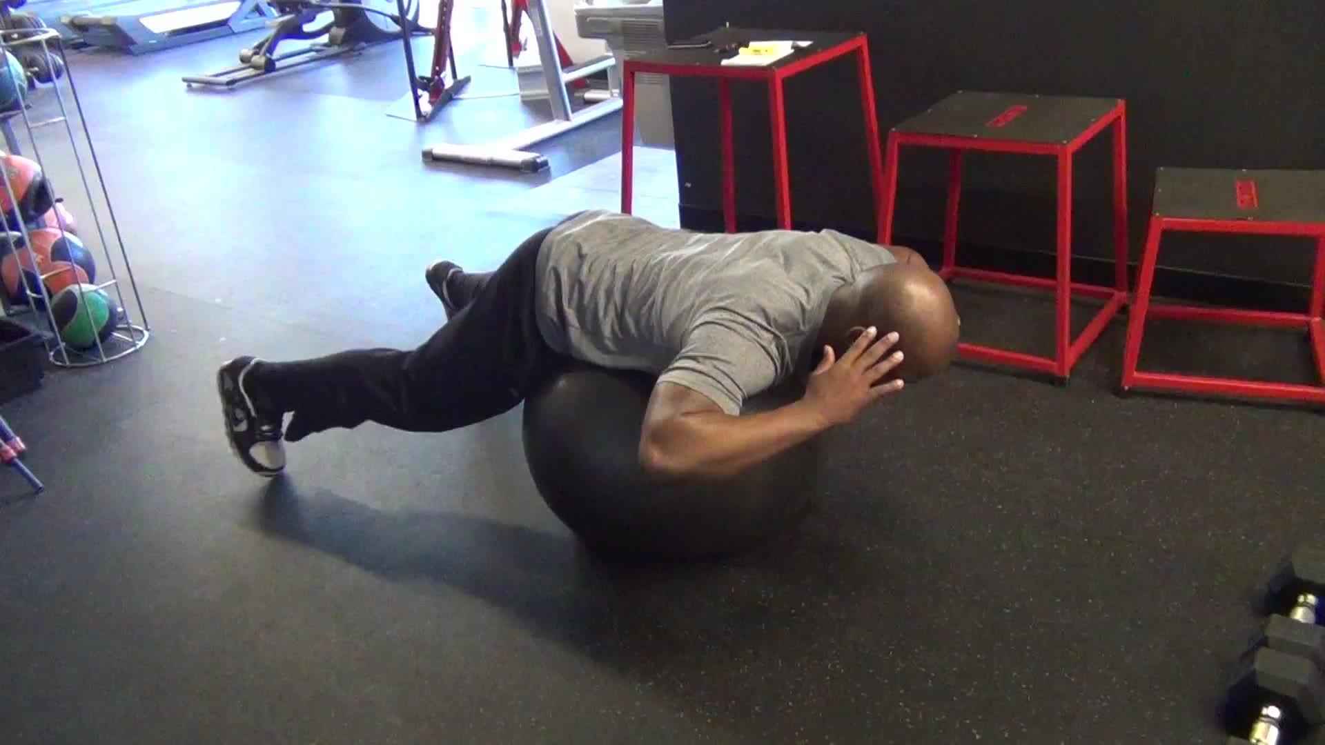 ball, hyperextensions, stability, Stability Ball Hyperextensions GIFs