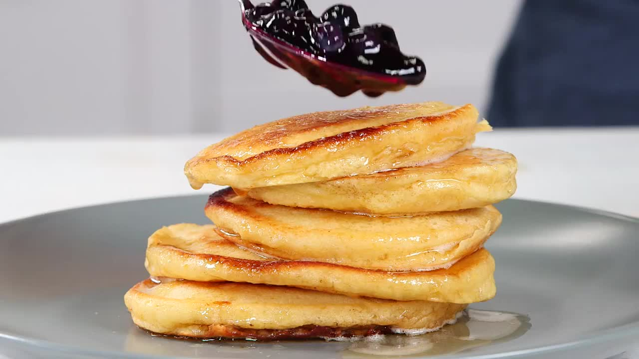 recipe, Ricotta Pancakes with Brown Butter-Maple Syrup Southern Living GIFs