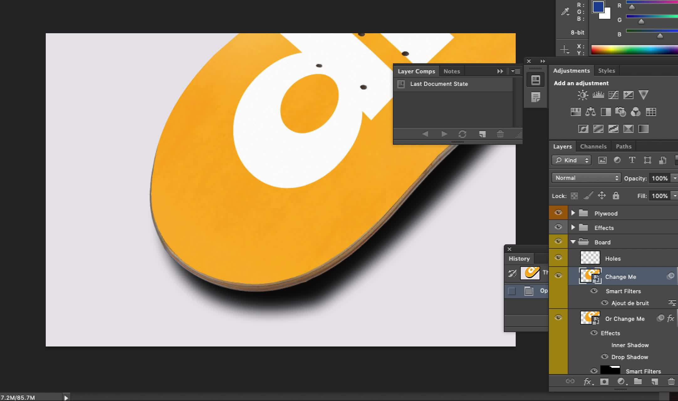 add gif to picture photoshop