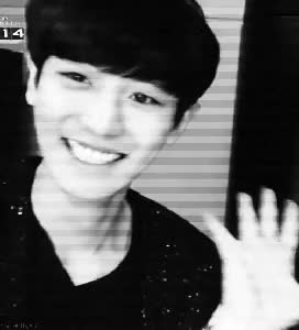 Watch this GIF on Gfycat. Discover more bias, black, black white, channie, chanyeol, cute, exo, exo k, exo k chanyeol, happy virus, korean, oppa, park chanyeol, pcy, smile, white, yeol, yeollie GIFs on Gfycat