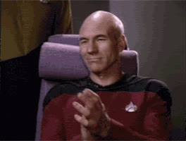 applause, clap, clapping, patrick stewart, picard, reaction, slow clap, star trek, the next generation, tng, Picard Clap 1 GIFs