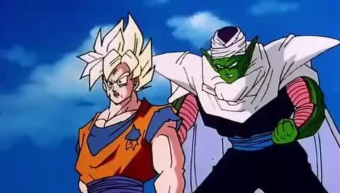 Piccoro hace reaccionar a Goku