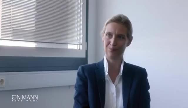 Watch Interview mit Alice Weidel (AfD) | Ein Mann, eine Wahl | ProSieben GIF on Gfycat. Discover more related GIFs on Gfycat