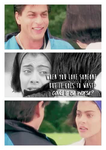 Watch Romeo and Juliet of India GIF on Gfycat. Discover more Kuch Kuch Hota Hai, Shahrukh Khan, bollywood, coldplay, fix you, kajol, kajol and srk, rahul and anjali, srkajol GIFs on Gfycat