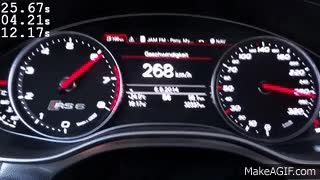 Watch and share Audi RS6 C7 Acceleration 0-100 / 0-200 Km/h LOUD Sound GIFs on Gfycat