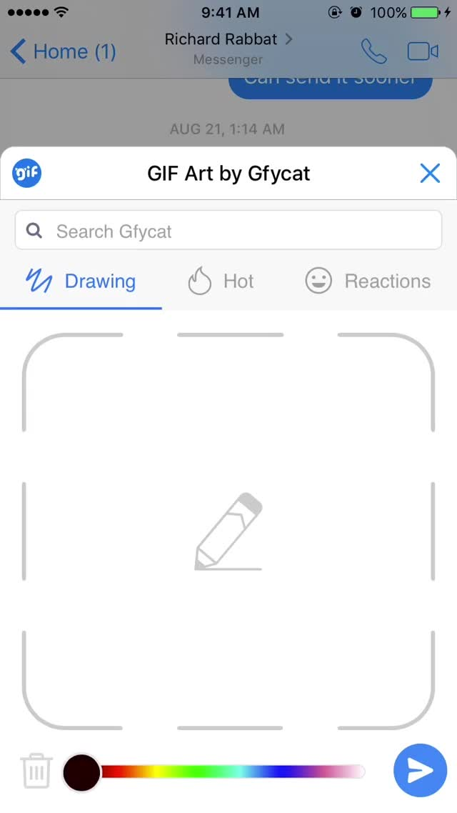 Watch Draw a GIF Using Your Finger or Stylus Pen | How to Make a GIF on Facebook Messenger with Gfycat GIF by Gfycat Support & Tutorials (@tutorials) on Gfycat. Discover more Facebook Messenger, Gfycat, Gfycat on Facebook Messenger, Gfycat on Messenger, How To, Make a GIF, tutorials GIFs on Gfycat