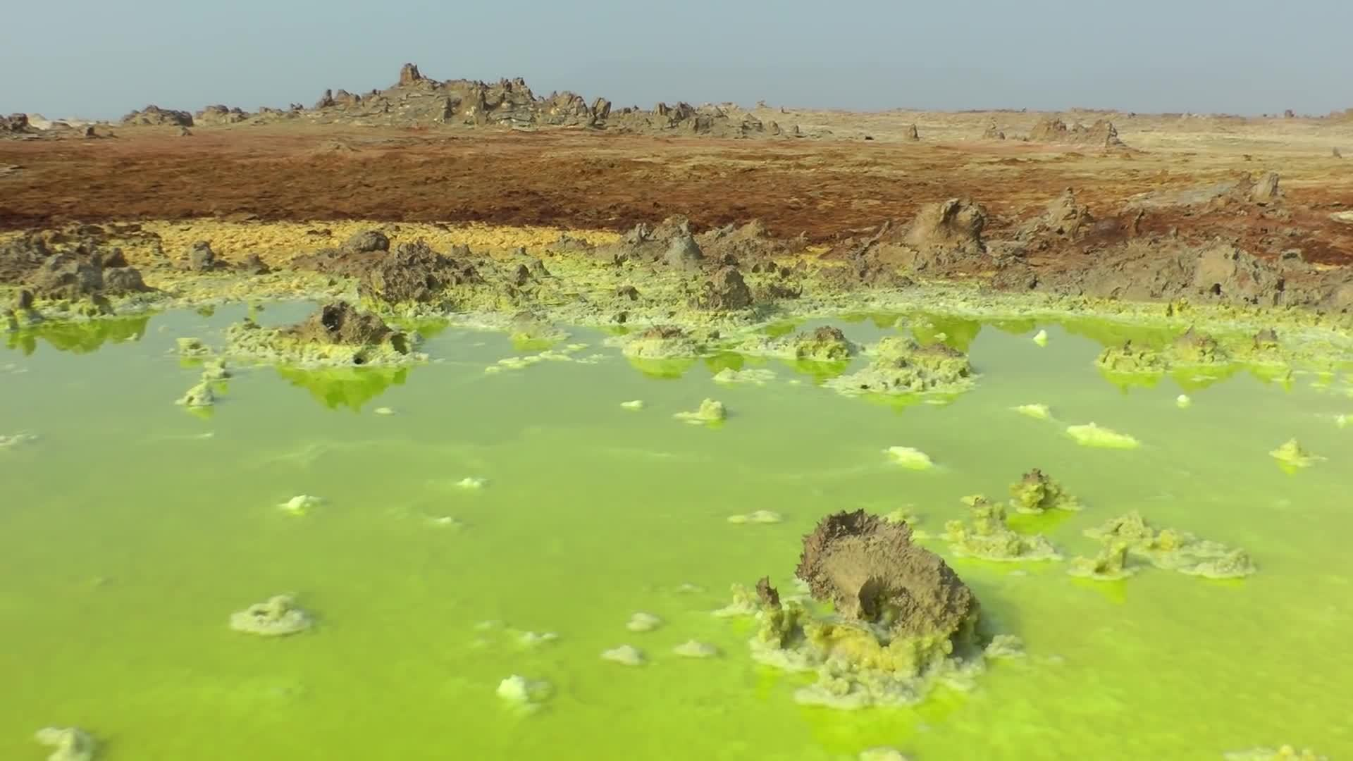 dallol, earthgifs, unearthly, The Unearthly Scenery of Dallol, Ethiopia in HD GIFs