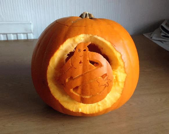 Watch and share Dominique's Wolf Of Wowcher Pumpkin GIFs on Gfycat