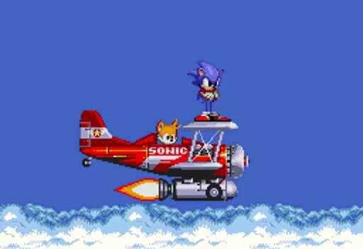 Watch and share Sonic And Tails Tornado Into The Sky Zone By ClassicSonicSatAm GIFs on Gfycat