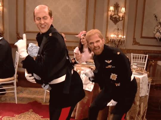 dance, prince harry, prince william, royal wedding, saturday night live, snl, Royal Wedding - SNL GIFs