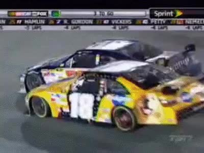 Watch and share Kyle Busch Wrecks Dale Earnhardt Jr!! GIFs on Gfycat