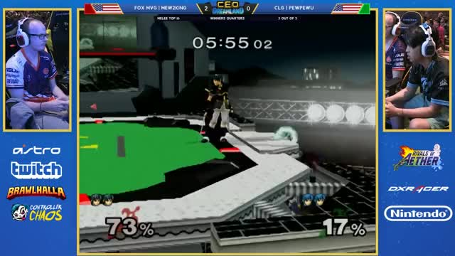 CEO Dreamland 2017 SSBM - Fox MVG | Mew2King (Sheik/Marth) Vs. CLG | PewPewU (Marth) Smash Melee WQ