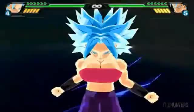 Caulifla SSJ Blue | Dragon Ball Z Budokai Tenkaichi 3 Mod GIF | Find