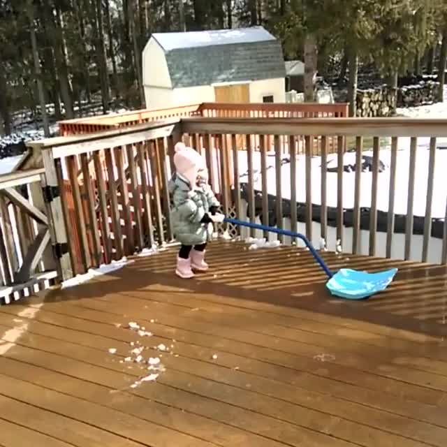 Watch and share Shoveling The Deck GIFs on Gfycat