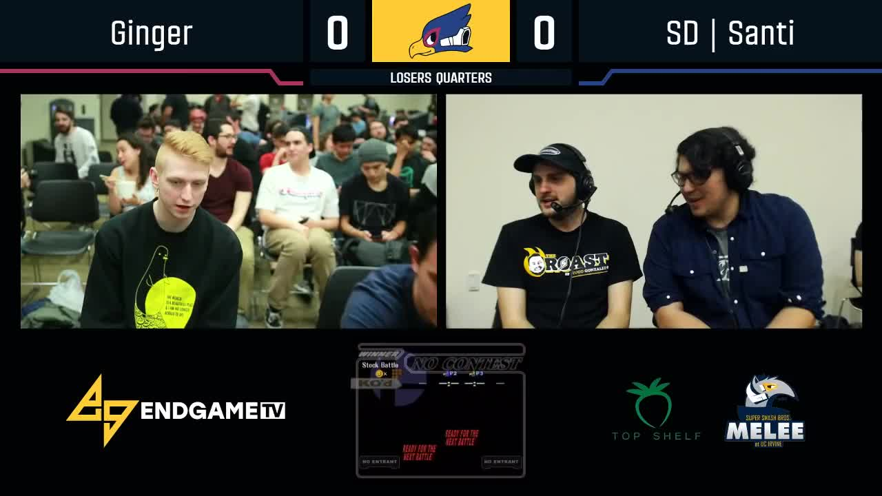egtv, endgametv, gaming, nintendo, smash, splatoon, Saving Mr. Lombardi  - Ginger (Falco) VS SD | Santi (Falco) - SSBM - Losers Quarters GIFs