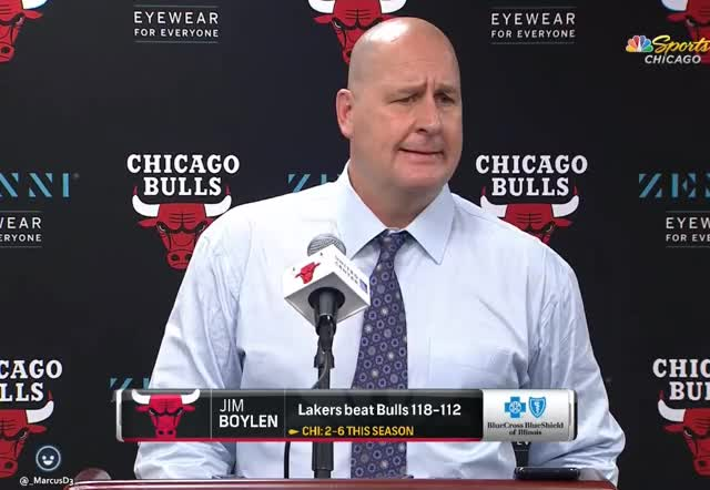 Watch and share Jim Boylen After Blowig Lead To Los Angeles Lakers We Gotta Keep Growing GIFs by MarcusD on Gfycat
