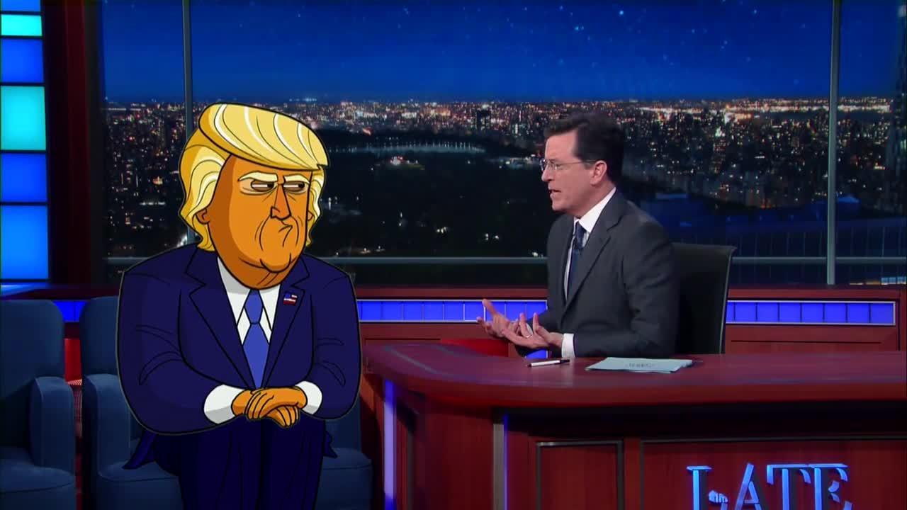 donald, stephen colbert, trump, Cartoon Donald Trump Has The Biggest Numbers GIFs