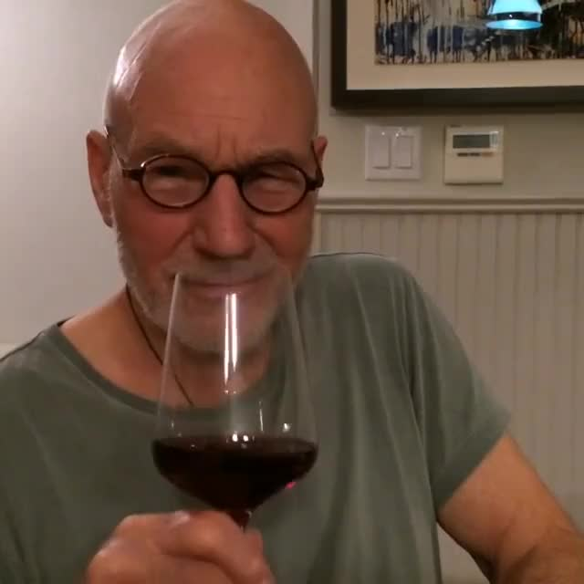 Watch and share Patrick Stewart GIFs and Wine GIFs by LimeLights  on Gfycat