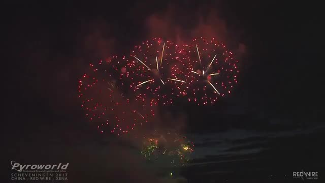 Watch Int. Vuurwerkfestival Scheveningen 2017 - China -  Red Wire - Xena - Fireworks GIF on Gfycat. Discover more related GIFs on Gfycat