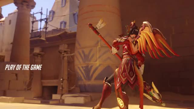 Watch Came in as backfill helped win the game! GIF by Kristin Holtzclaw (@azeliana) on Gfycat. Discover more Battle Mercy, POTG, mercy, overwatch GIFs on Gfycat