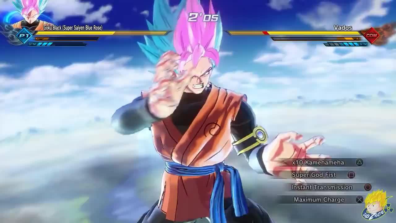 Dragon Ball Xenoverse 2 Pc Goku Black Super Saiyan Blue Rose Ex Fusion Mod Gfycat
