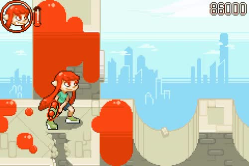 Watch and share Splatoon GBA Demake - Pixel Art Animationby Danieru GIFs on Gfycat
